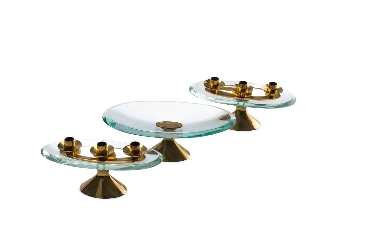 Figure Candlesticks & plate by Max Ingrand for sale