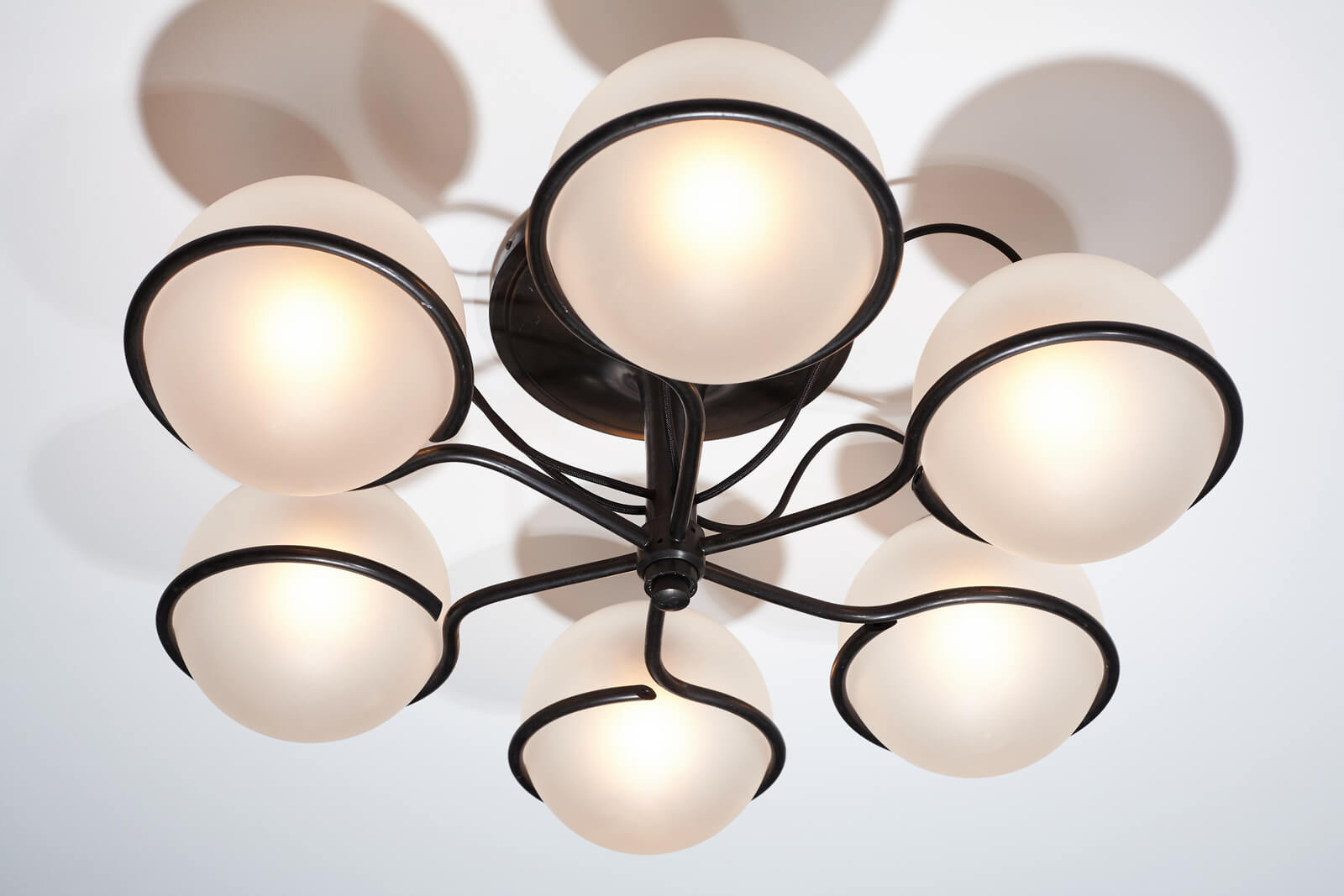 Ceiling lamp Model 2042/6 by Gino Sarfatti for sale